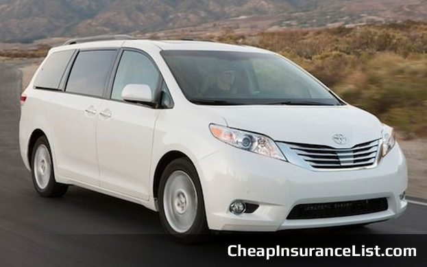 Cheap Cars To Insure Toyota Sienna V6