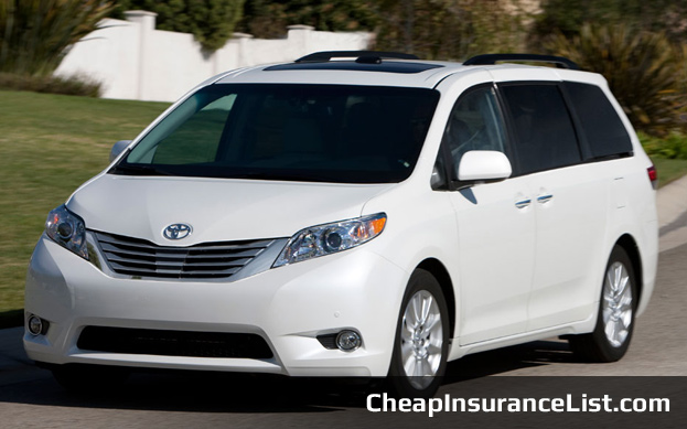 Cheap Cars To Insure Toyota Sienna LE