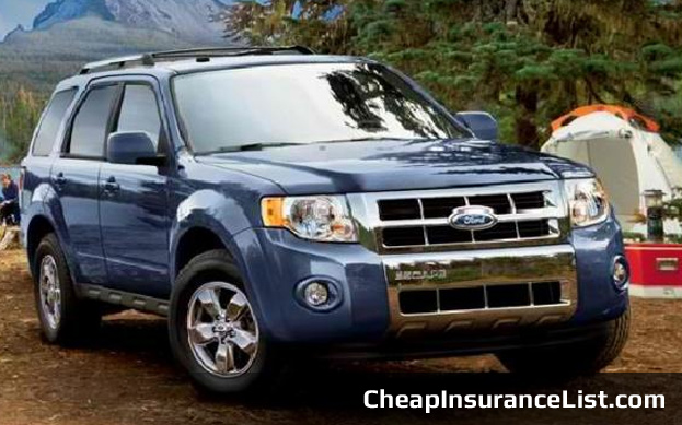 Cheap Cars To Insure Ford Escape XLS